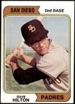 1974 Topps #148 SD Dave Hilton  Front Thumbnail