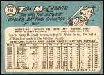 1965 Topps #294  Tim McCarver  Back Thumbnail