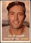1957 Topps #75  Jimmy Piersall  Front Thumbnail