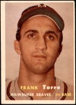 1957 Topps #37  Frank Torre  Front Thumbnail
