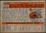 1957 Topps #331  Ray Katt  Back Thumbnail
