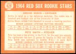 1964 Topps #428   -  Pete Smith / Archie Skeen Red Sox Rookies Back Thumbnail