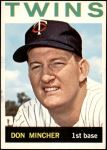 1964 Topps #542  Don Mincher  Front Thumbnail