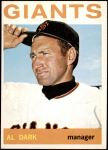 1964 Topps #529  Al Dark  Front Thumbnail