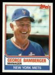 1983 Topps #246  George Bamberger  Front Thumbnail