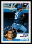 1983 Topps #521  Bruce Benedict  Front Thumbnail