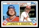 1983 Topps #705   -  LaMarr Hoyt / Steve Carlton Strike Out Leaders Front Thumbnail