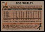 1983 Topps #112  Bob Shirley  Back Thumbnail