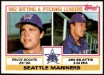 1983 Topps #711   -  Jim Beattie / Bruce Bochte Mariners Leaders Front Thumbnail