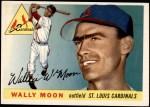 1955 Topps #67 DOT Wally Moon  Front Thumbnail