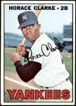 1967 Topps #169  Horace Clarke  Front Thumbnail