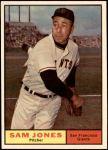 1961 Topps #555  Sam Jones  Front Thumbnail