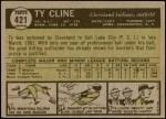 1961 Topps #421  Ty Cline  Back Thumbnail