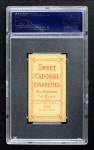 1909 T206  Moose Grimshaw  Back Thumbnail