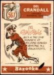 1959 Topps #567   -  Del Crandall All-Star Back Thumbnail