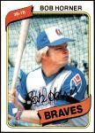 1980 Topps #108  Bob Horner  Front Thumbnail