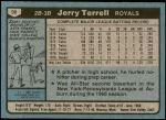 1980 Topps #98  Jerry Terrell  Back Thumbnail