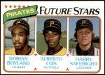 1980 Topps #683   -  Dorian Boyland / Alberto Lois / Harry Saferight  Pirates Rookies Front Thumbnail