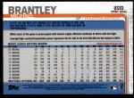 2019 Topps Update #93  Michael Brantley  Back Thumbnail
