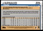 2019 Topps Update #184  Travis d'Arnaud  Back Thumbnail
