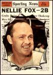 1961 Topps #570   -  Nellie Fox All-Star Front Thumbnail