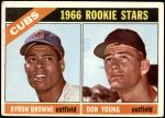 1966 Topps #139   -  Bryon Browne / Don Young Cubs Rookies Front Thumbnail