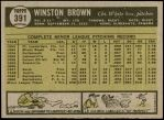 1961 Topps #391  Winston Brown  Back Thumbnail