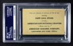 1922 E121-120 American Caramel  Grover Alexander  Back Thumbnail
