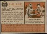 1962 Topps #509  Dave Giusti  Back Thumbnail
