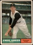 1961 Topps #181  Fred Green  Front Thumbnail