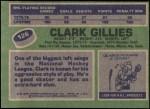 1976 Topps #126  Clark Gillies  Back Thumbnail