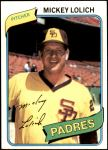 1980 Topps #459  Mickey Lolich    Front Thumbnail