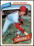 1980 Topps #464  John Denny  Front Thumbnail