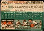 1954 Topps #12 WHT Del Crandall  Back Thumbnail