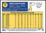 2019 Topps Heritage #702 A Andrew McCutchen  Back Thumbnail