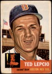 1953 Topps #18  Ted Lepcio  Front Thumbnail