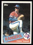 1985 Topps #55  Frank Tanana  Front Thumbnail