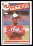 1985 Topps #400   -  Oddibe McDowell Team USA Front Thumbnail