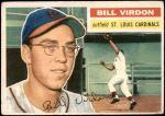 1956 Topps #170 WHT Bill Virdon  Front Thumbnail