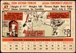 1956 Topps #47  Art Fowler  Back Thumbnail