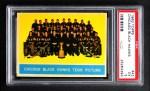 1963 Topps #43   Blackhawks Team Front Thumbnail