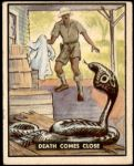 1950 Topps Bring Em Back Alive #58   Death Comes Close Front Thumbnail