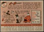 1958 Topps #201  Jim Bolger  Back Thumbnail
