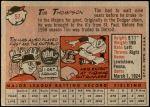 1958 Topps #57 YN Tim Thompson  Back Thumbnail
