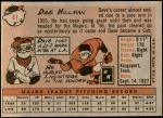 1958 Topps #41  Dave Hillman  Back Thumbnail