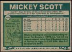 1977 Topps #401  Mickey Scott  Back Thumbnail