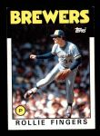 1986 Topps #185  Rollie Fingers  Front Thumbnail