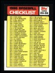 1986 Topps #394   Checklist: 265 - 396 Front Thumbnail