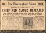 1954 Topps Scoop #84 xCOA  Chief Red Cloud Defeated Back Thumbnail