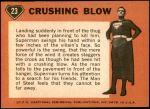 1966 Topps Superman #23   Crushing Blow Back Thumbnail
